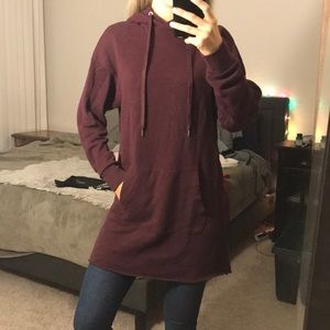 long hoody sweater dress